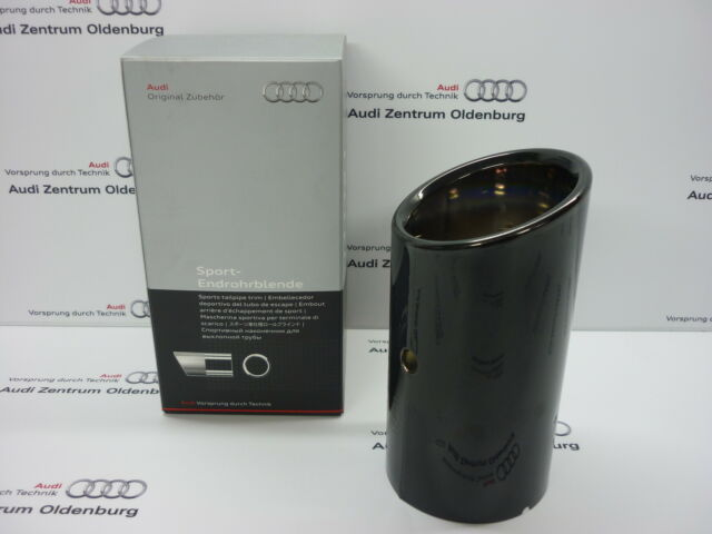 Genuine Audi Black Chrome Exhaust Tip Trim Single A1 /& A3