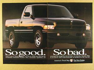 1995 Dodge Ram 1500 Sport Pickup Black Truck Photo Vintage Print Ad Ebay