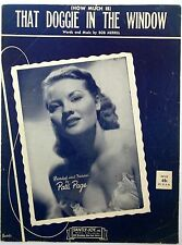 PATTI PAGE Sheet Music HOW MUCH IS THAT DOGGIE Saintly Joy 50's POP Female Vocal