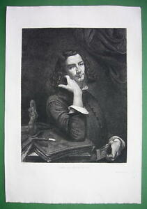 ORIGINAL-ETCHING-Print-by-Courbet-Man-with-Leather-Belt