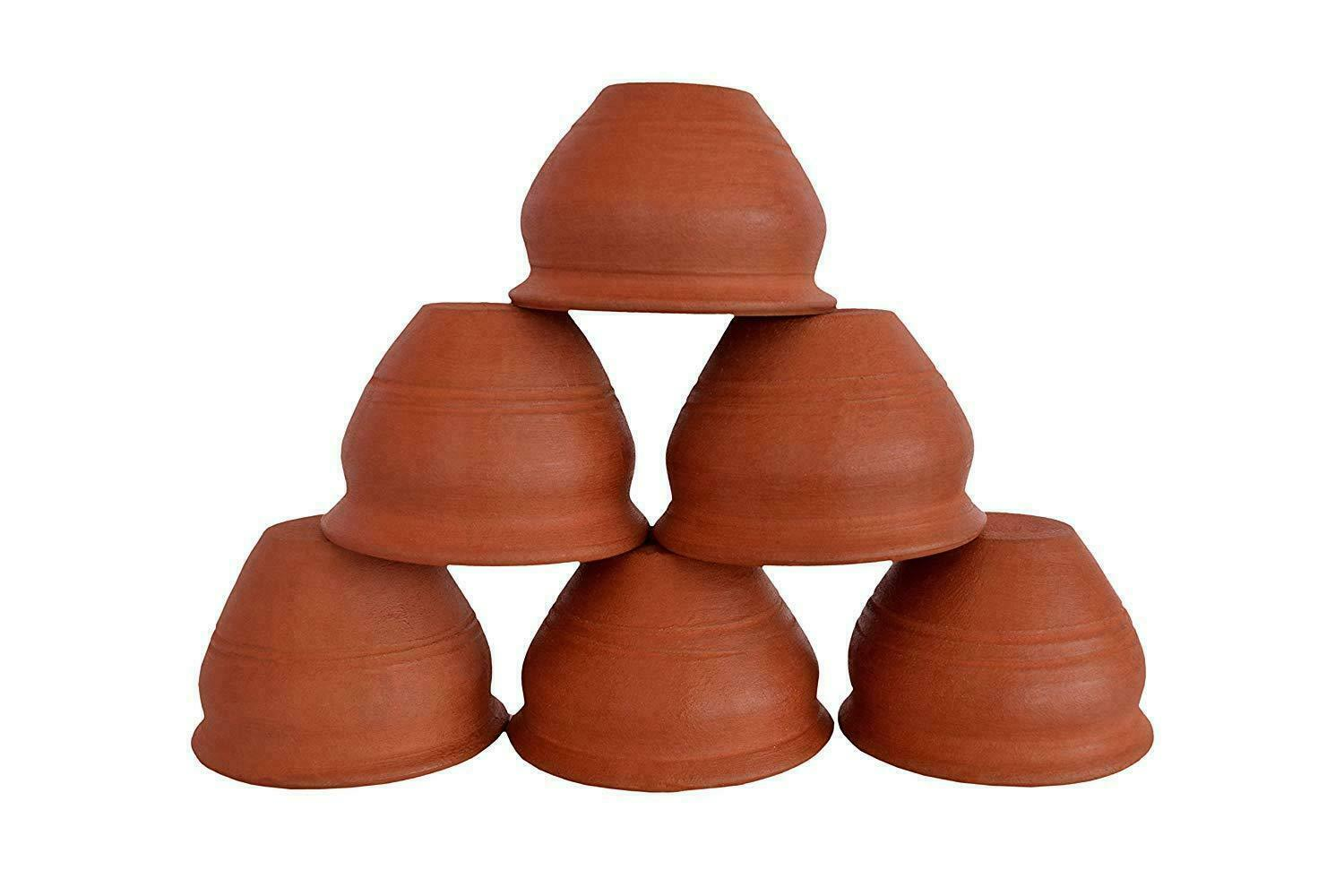 Earthen Clay Tea Cups Coffee Mugs Indian Chai Kulhar For Tea Coffee Milk 6 PCs
