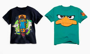 Phineas-amp-Ferb-Phineas-and-Ferb-Perry-Platypus-Disney-Boy-039-s-Size-XL-14-T-shirt