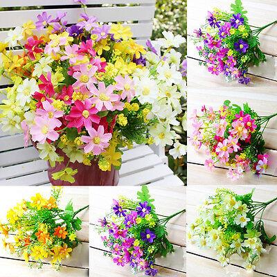 1 Bunch Artificial Fake Silk Daisy Flower Bouquet Home Wedding Party Decoration