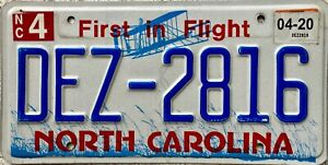 North-Carolina-First-in-Flight-American-License-Licence-Number-Plate-DEZ-2816