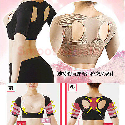 Japan Lady Bust Push-Up Slimming Arm Shaping Bustier Top Humpback Hunchback Cure