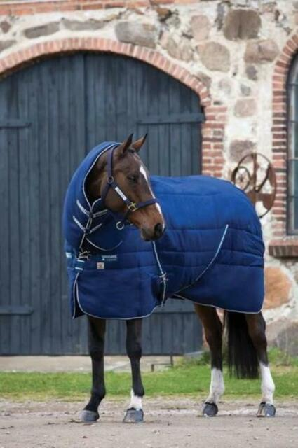 Horseware Rambo Stable Plus Stable Blanket with Vari-Layer - Heavy 450G-CLOSEOUT