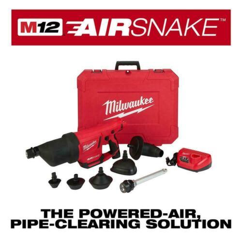 Milwaukee M12 Cordless Drain Cleaning Airsnake Air Gun Kit  2572B-21 NIB