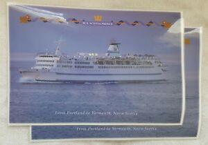Prince of Fundy MS Scotia Prince Portland, Maine Yarmouth, Nova Scotia PLACEMATS