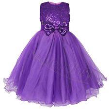 US Pageant Flower Girls Birthday Party Princess Wedding Bridesmaid Formal Dress
