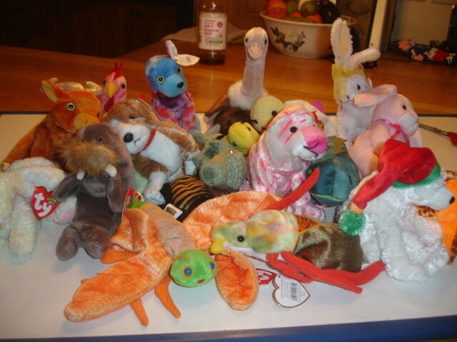 TY RETIRED BEANIE BABIES  X 20  ALL    DIFFERENT  NEW STORED SMOKE FREE d5eefc