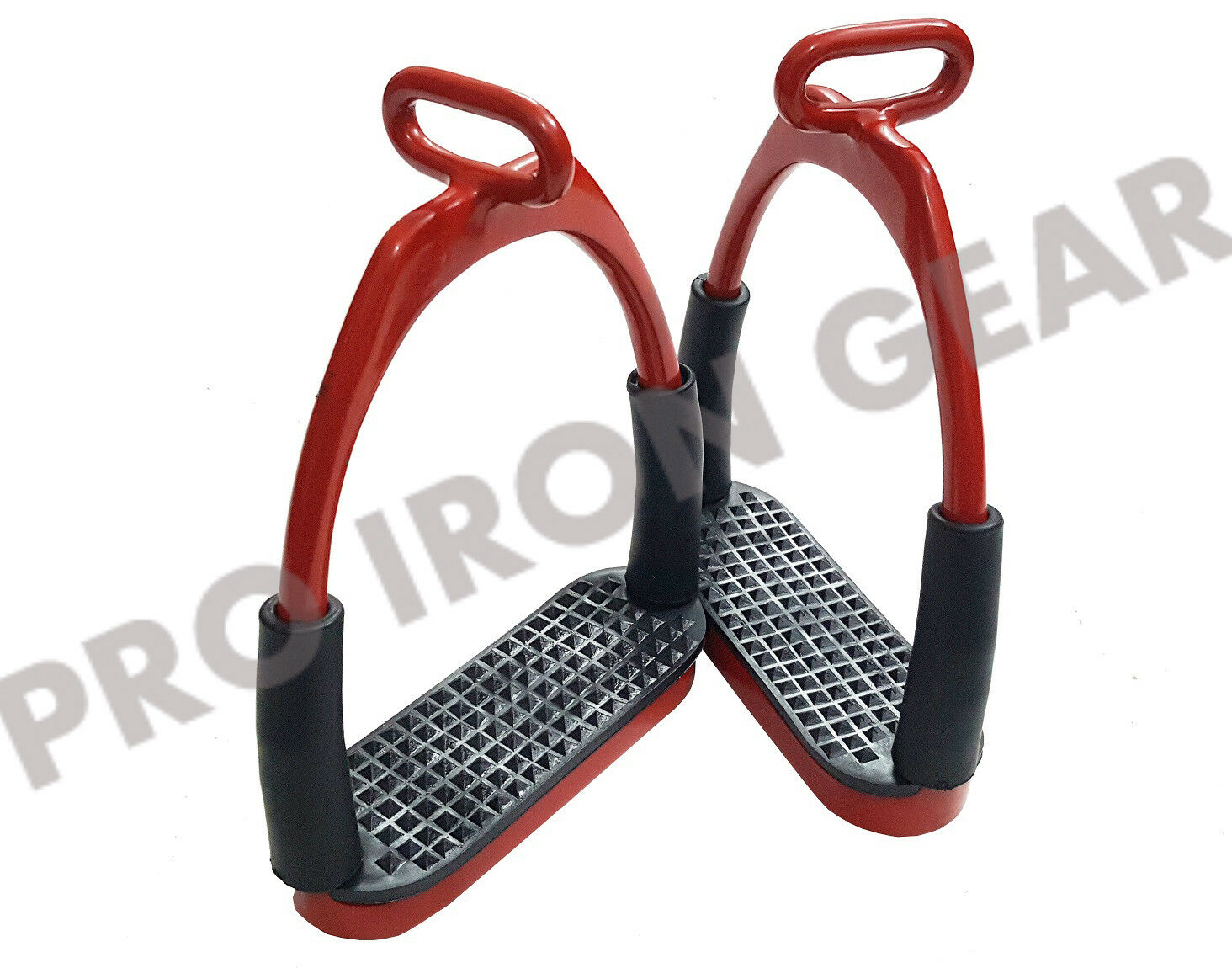 OFFSET HORSE FLEXIBLE  SAFETY STIRRUPS (4.75'')  RIDING BENDY IRON STEEL