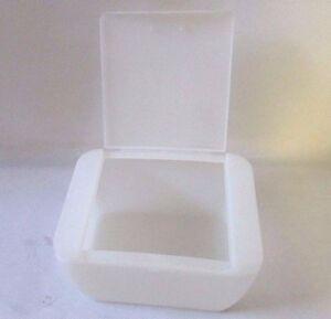 Q Tip White Plastic Cotton Swabs Holder Storage Cosmetic Case Box W Lid Bathroom Ebay