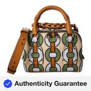 Chloe Daria Small Leather Shoulder Bag Women's Brown
