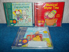 CLAP YOUR HANDS, MUSICAL RHYME TIME, DOWN ON THE FARM - 3 x NEW & SEALED CD's