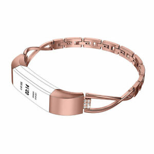 Women-Bling-Stainless-Steel-Watch-Band-Wristband-Strap-For-Fitbit-Alta-HR