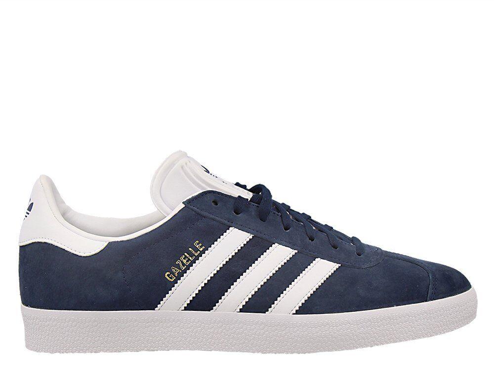 Adidas GAZELLE PARA HOMBRE UE 44 2 3 Azul Marino Zapatillas Zapatos De oro blancoo BB5478