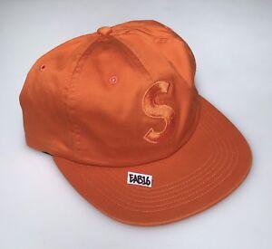 Image is loading Supreme-S-Logo-6-Panel-Hat-Orange-FW17- f5828edcbf3