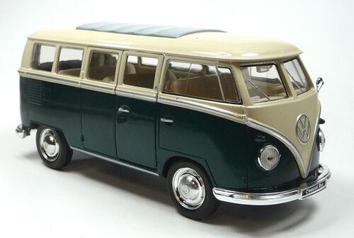 verde modello di auto circa 14cm//1:31 di Welly merce nuova! 1963 VW bus bulli t1 NUOVO