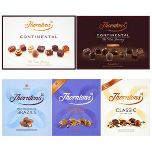 Details About Thorntons Selection Assorted Continental Dark Milk Chocolate Box Family Gift Set
