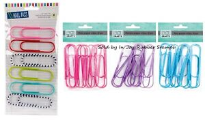 Jumbo-Paper-Clips-4-034-Purple-Pink-Teal-Mixed-Colors-American-Crafts-Hall-Pass