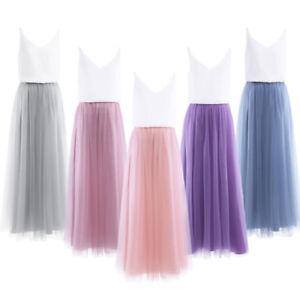 Women Fashion Evening Party Prom Maxi Dress Holiday Wedding Ball Summer Skirt
