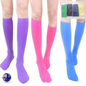 6f34f6dfb Women Girl Calf High Long Under Knees Stockings Hosiery Pantyhose ...