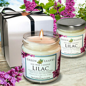 LILAC-Soy-Candle-4oz-Hand-poured-Fall-Candle-Minimalist-Book-Lover-Gift