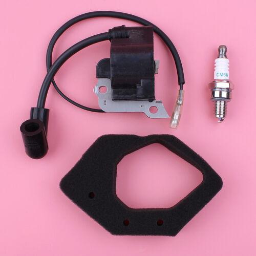Ignition Coil Air Filter Spark Plug Kit For Honda GX25 HHT25S WX10K Engine Motor