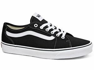 Details zu Vans Filmore Decon Canvas Herren Sneakers Black White Schwarz Weiß VN0A3WKZ1871