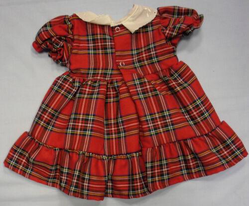 Baby Babies Girls Red Pink Tartan Dress Set Fleece Bolero Cardigan Hat Party 3 M