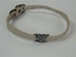 Collare-cani-Beige-con-cuore-strass-bianchi-30-cm-9-mm-M246