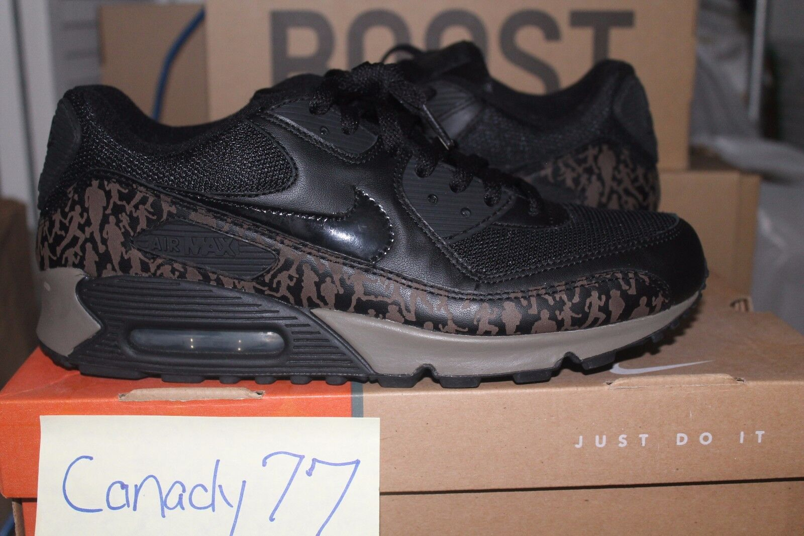 Nike Air Max 90 DS Olive Powerwall 8.5 rare patta atmos grape i ii iii iv v vi x