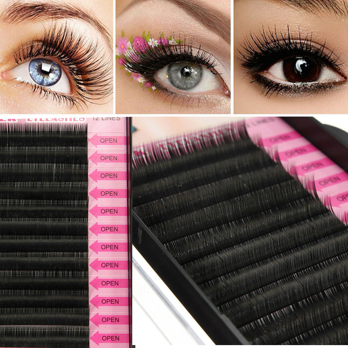Blink Bl Lashes Mink Tray Lashes Bcdj Curl For Individual Eyelash