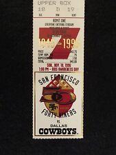 "SAN FRANCISCO 49ERS VS. DALLAS COWBOYS.""TICKET STUB"" GAME # 7 11/10/96"