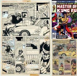 Hands of Shang-Chi Master of Kung Fu Original Art Page ~ Mike Zeck Draws Himself