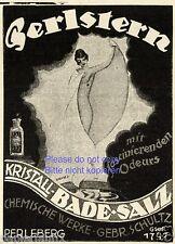 Badesalz Perlstern Reklame von 1920 Gebr. Schultz Perleberg Akt Werbung ad