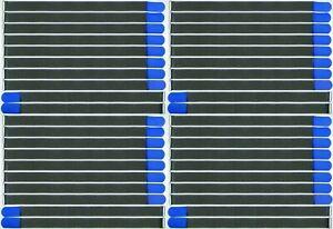 40 Velcro Serre-câbles 800 X 50 Mm Bleu Fk Kabelklettband Câble Velcro Velcro œillet-afficher Le Titre D'origine