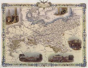 S MAP BIRD EYE VIEW PRUSSIA BERLIN ROYAL FREDERICK VINTAGE - Vintage map berlin