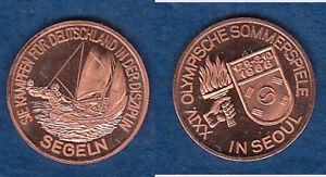 Olympiade-Seoul-1988-Segeln-dt-Teilnehmer-Cu-Medaille-18-mm-dd5-stampsdealer