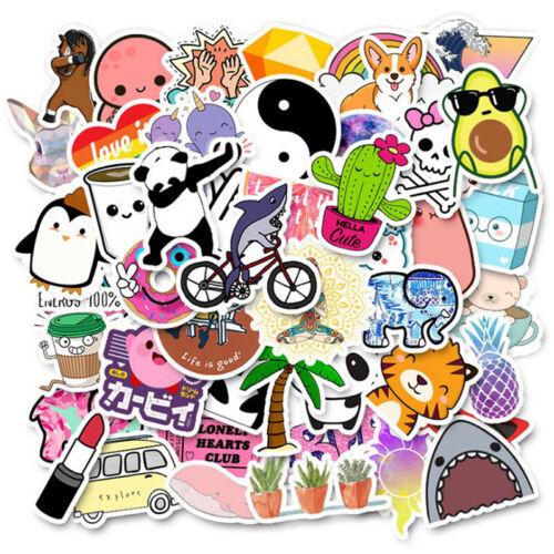 50Pcs Cute Cartoon Stickers DIY Laptop Luggage Guitar Bicycle Skateboard Dec BW