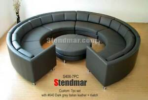 Details about 7PC MODERN ROUND SECTIONAL LEATHER SOFA SET S406CG