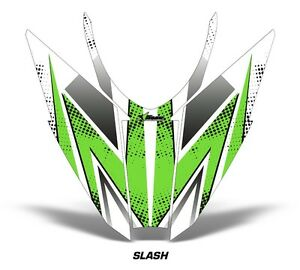 Sled-Hood-Graphics-Kit-Decal-Wrap-For-Arctic-Cat-Pro-Climb-Cross-12-16-SLASH-GRN