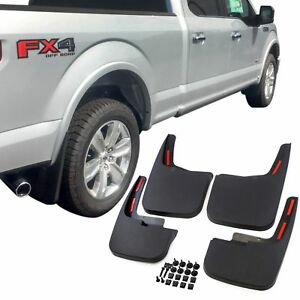 F150 Mud Flaps >> Details About Fits Ford F 150 Mud Flaps 15 18 Mud Guards Splash Flares 4 Piece Front Rear