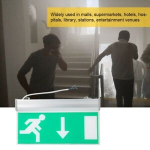Standard-LED-Exit-Sign-Light-Emergency-Light-Evacuation-Light-Running-Man-amp-Arrow