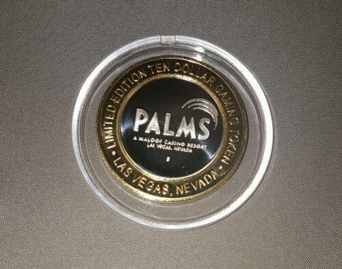 palms las vegas $10 silver strike rojo lounge  token chip
