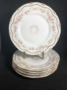 Theodore-Haviland-Limoges-France-Lunch-Plates-8-1-2-034-Diameter-JE-Caldwell-PA-11K
