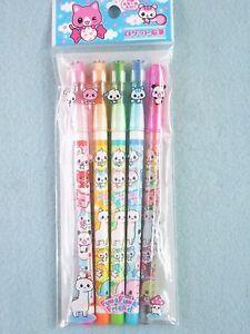 Rocket Pencils 5 Pencils (4 Black + 1 Multi Color) School Stationery Kawaii Gift