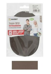 Pack of 2 Marbet Synthetic Chamois-Effect Mending Iron On Elbow Knee Patches