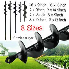 9 18planting Auger Spiral Hole Drill Bit Garden Yard Bulb Earth Planter Tool