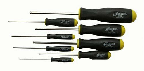 Bondhus 16632 Set of 8 Balldriver Screwdrivers, Größes .050-5/32-Inch